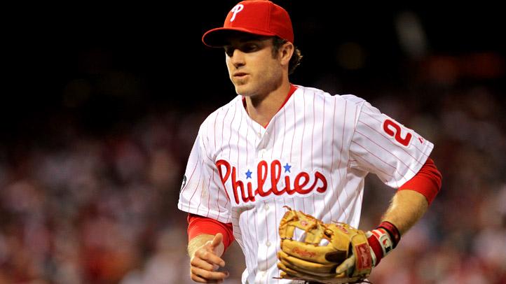 Phillies Chase Utley Runs Glove