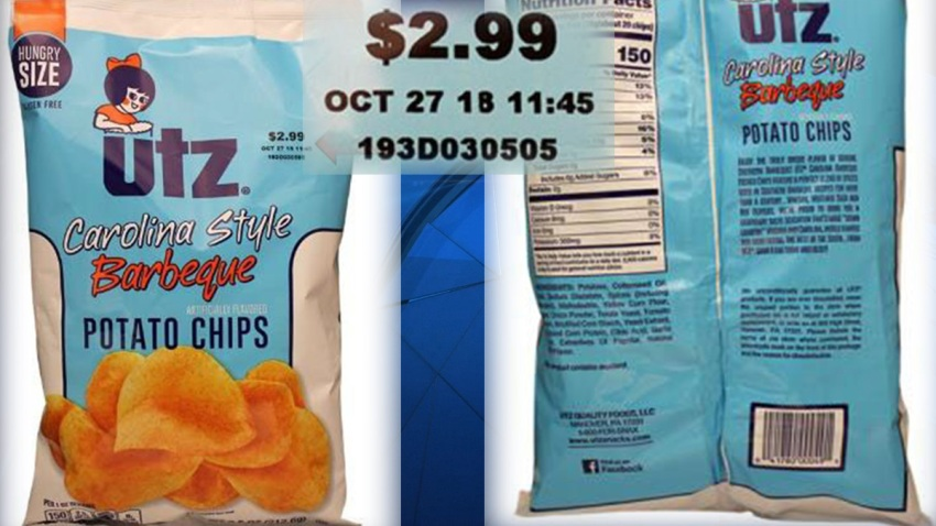Utz bbq chip recall