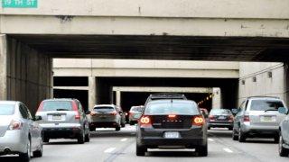Vine Street Expressway I 676 PennDOT Philly Traffic Vine Street Bridges Construction