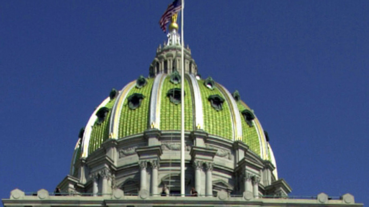 The dome to the Pennsylvania capitol building