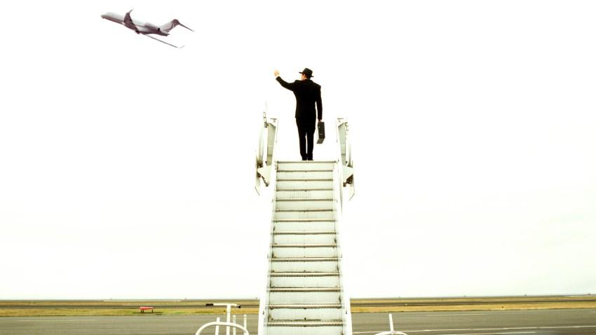 airport flight delay man upset