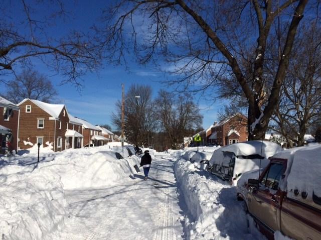 allentown neighborhood snow mayk