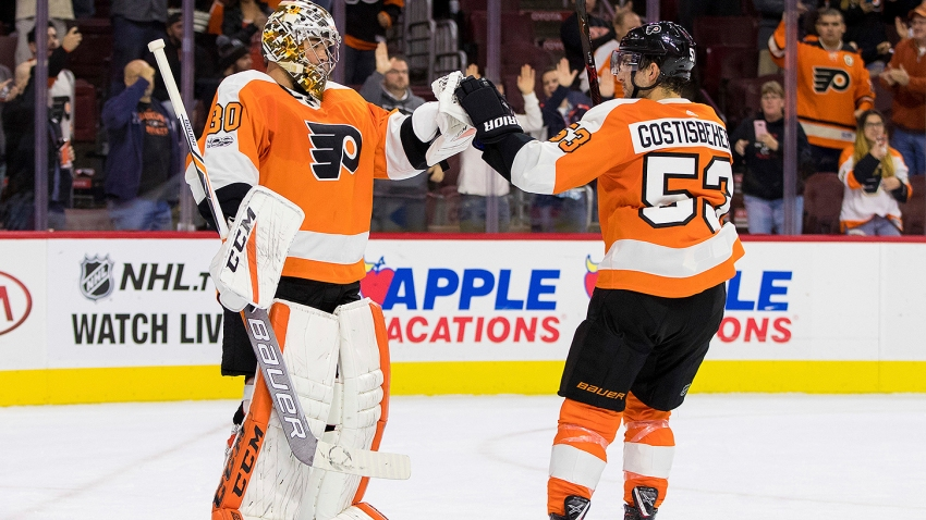 [CSNPhilly] Michal Neuvirth earns his Ric Flair robe as Flyers roll again at home