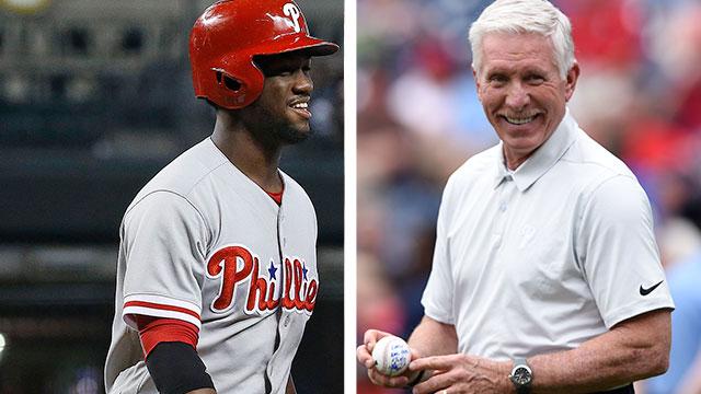 [CSNPhily] Odubel Herrera to Phillies great Mike Schmidt: It's all good, amigo
