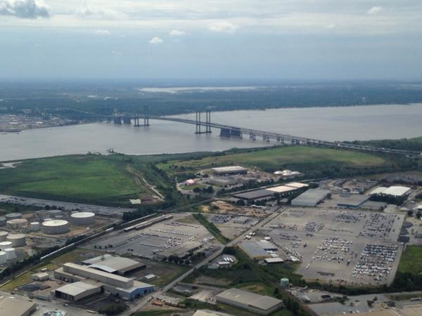 [UGCPHI-CJ]Delaware Memorial Bridge from @SkyForce10 @NBCPhiladelphia http://t.co/t5Qyt8j7uK