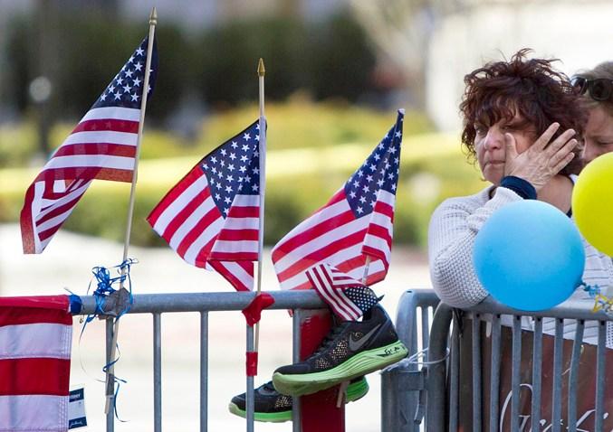 APTOPIX Boston Marathon Moment of Silence
