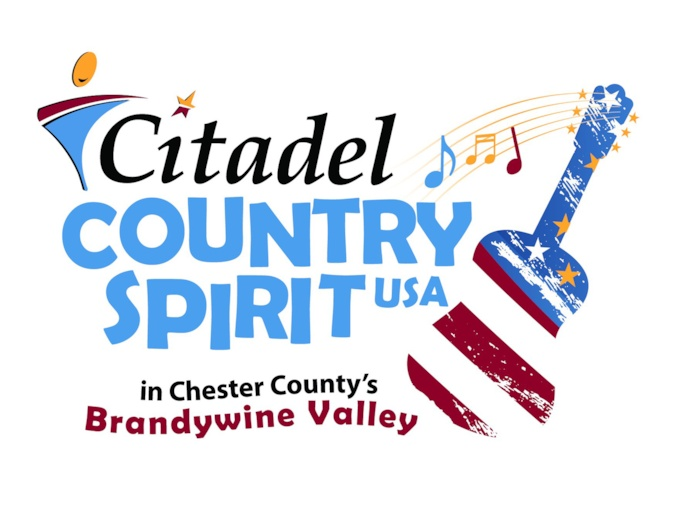 A flyer for the Citadel Country Spirit USA concert in Chester County's Brandywine Valley.