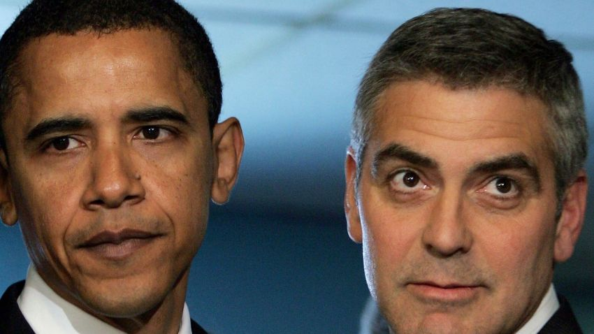 111908 Obama and Clooney