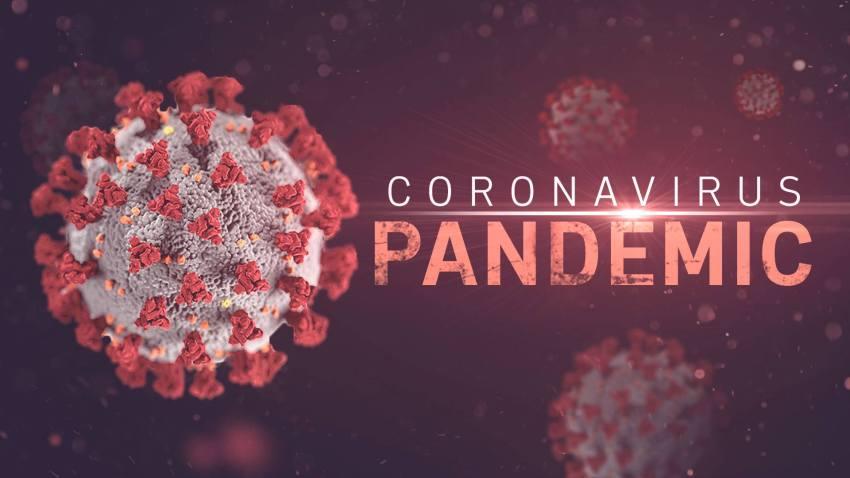 graphic saying coronavirus pandemic