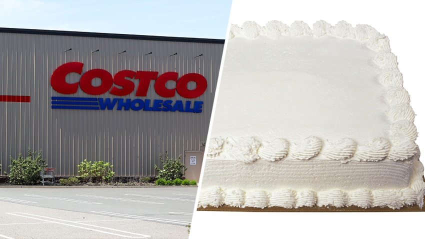 Costco; Plain sheet cake
