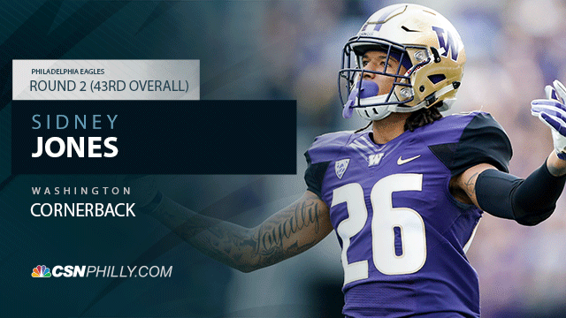 [CSNPhily] Eagles draft CB Sidney Jones with 2nd-round pick