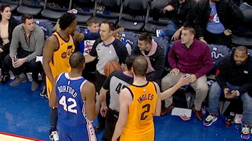 [CSNPhily] What did the Sixers fan say to Donovan Mitchell to get ejected from courtside seats?
