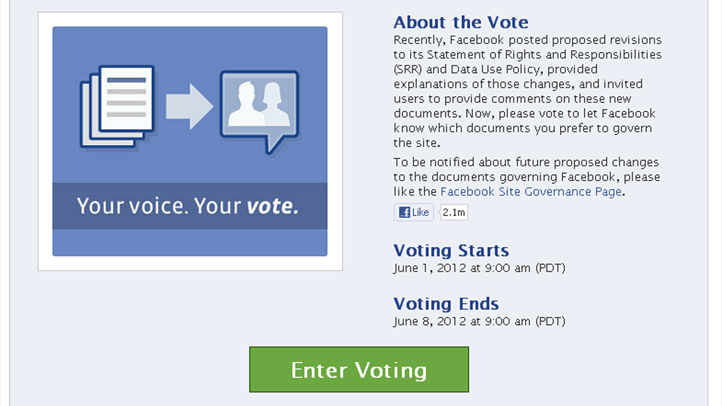 facebook privacy vote