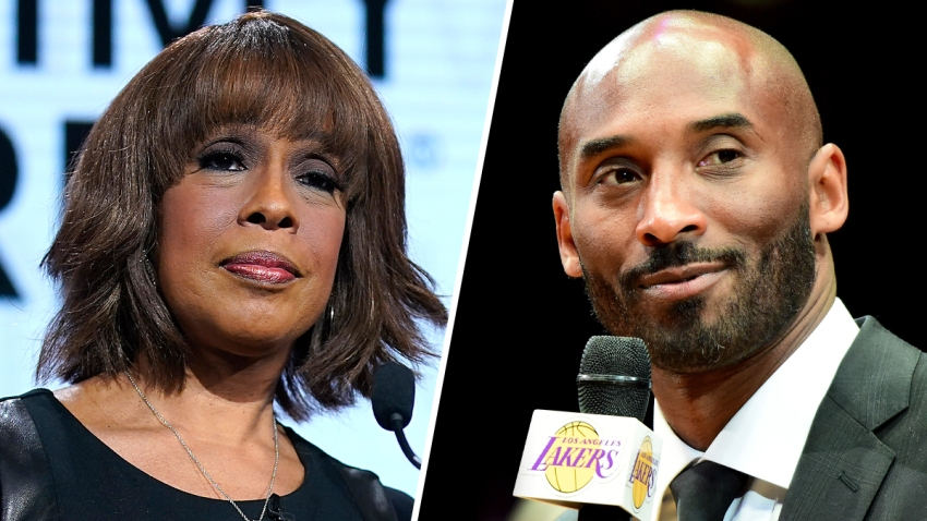 CBS host Gayle King, left, spoke out following an interview she did with basketball star Lisa Leslie after social media users accused her of being insensitive by bringing of rape allegations against Kobe Bryan from 2003.