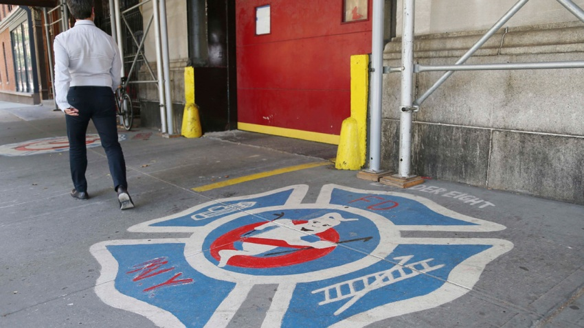 Marriage Proposal Ghostbusters Firehouse