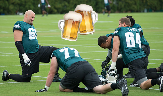 [CSNPhily] Lane Johnson promises beers on him when Eagles win Super Bowl