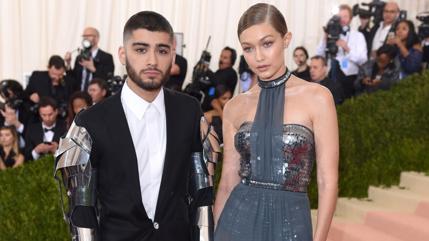 """In this file photo, Gigi Hadid and Zayn Malik arrive for the """"Manus x Machina: Fashion In An Age Of Technology"""" Costume Institute Gala at Metropolitan Museum of Art on May 2, 2016 in New York City."""