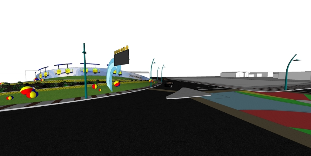 A mock up of the new design for Rio Grand Ave in Wildwood, New Jersey.