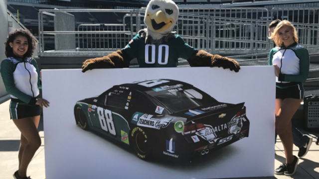 [CSNPhily] Redskins fan Dale Earnhardt Jr. won't have to drive Eagles car after all
