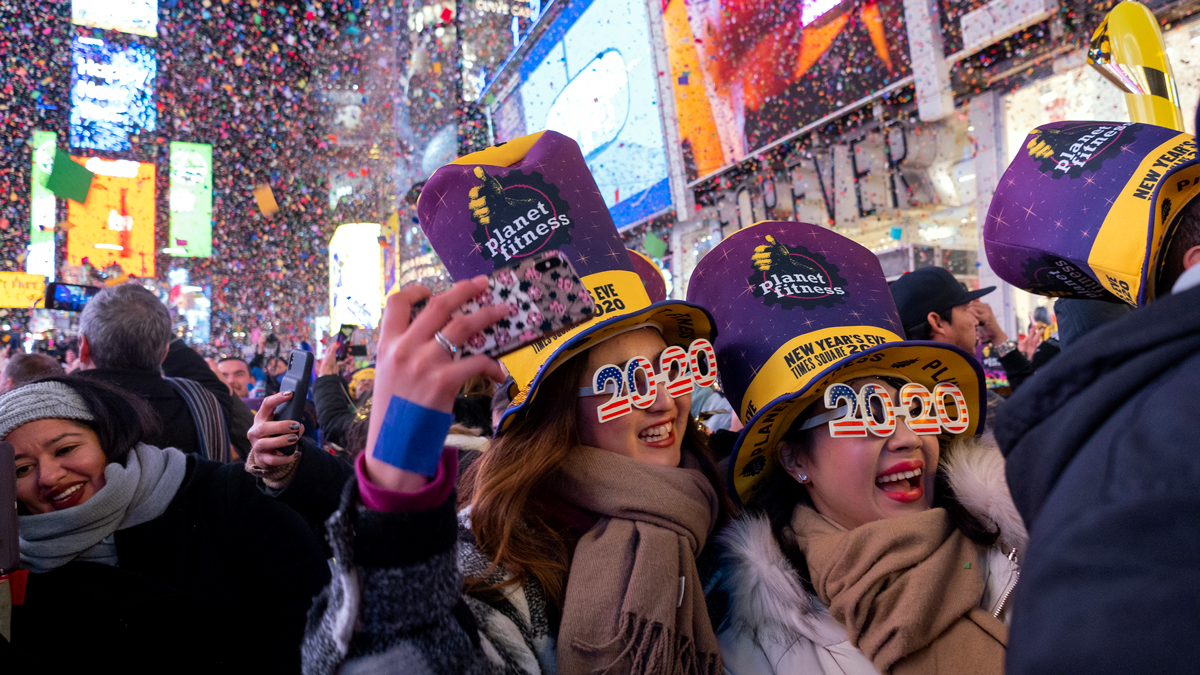Pictures From 2020 New Years Eve Celebrations Across the
