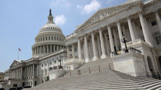 In this Aug. 3, 2017, file photo, the Senate side of the US Capitol is shown on the last day of the summer session in Washington, DC.