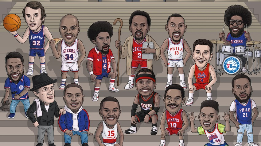 [CSNPhily] 76ers Crossover: Art Exhibition features plenty of local flair