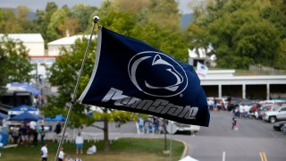 A Penn State Nittany Lions flag flies before the game against the Temple Owls on September 17, 2016 at Beaver Stadium in State College, Pennsylvania.