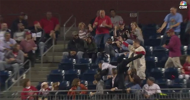 [CSNPhily] Watch: Fan lays out for incredible catch at Phillies-Rockies game