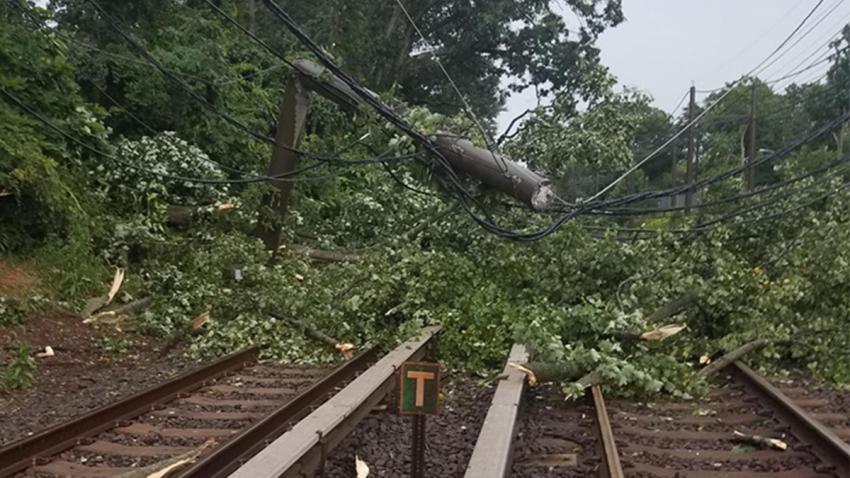 rail delays after storm