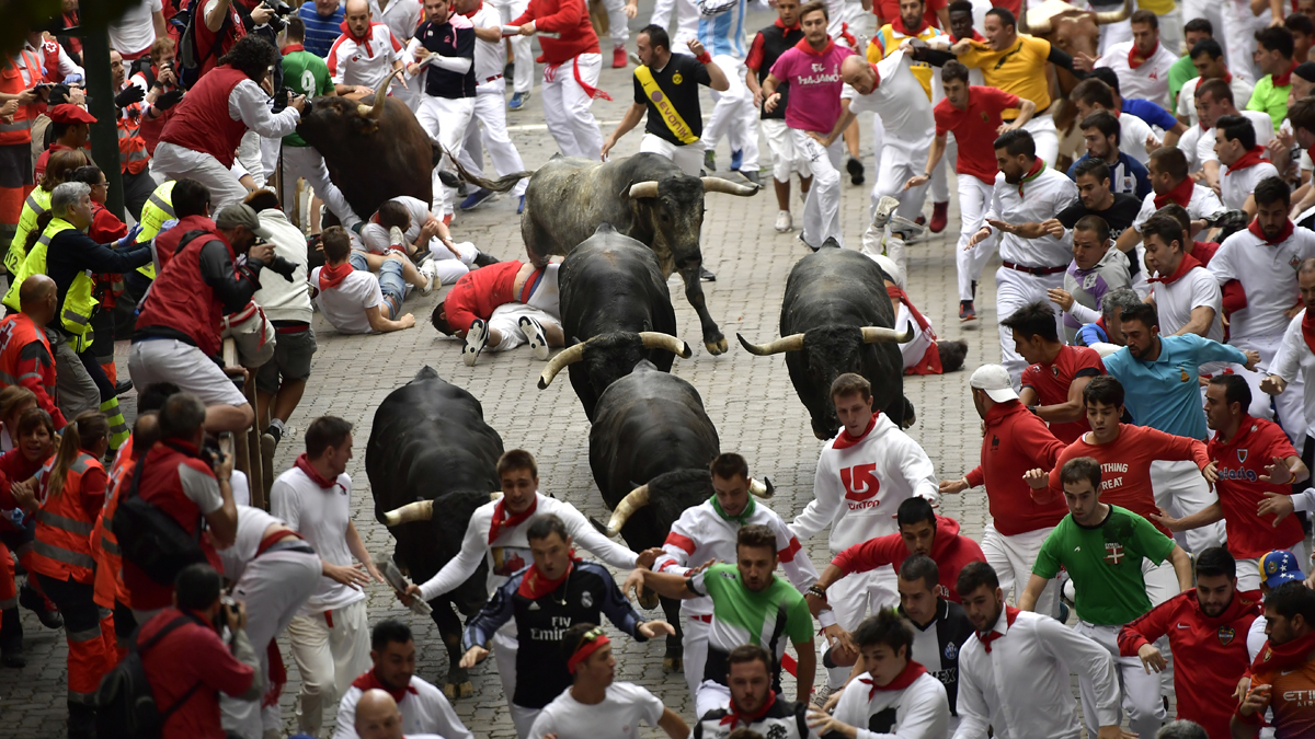 Pamplona Bull-Running Festival Canceled for First Time in Decades