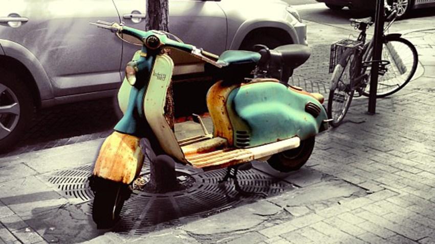 scooter on sidewalk 1