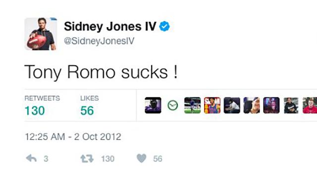 [CSNPhily] New Eagle Sidney Jones deletes an old tweet - bashing Tony Romo