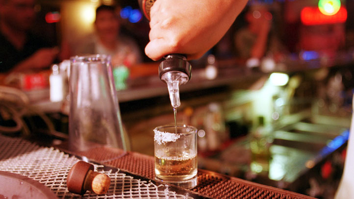 Pouring Tequila