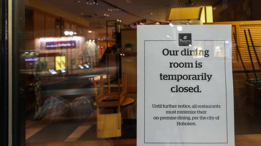 Bars and restaurants are closed throughout New Jersey.