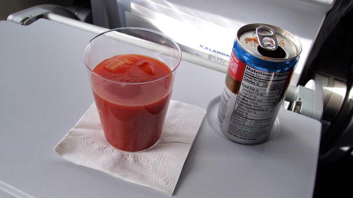 Drink Tomato Juice on Planes