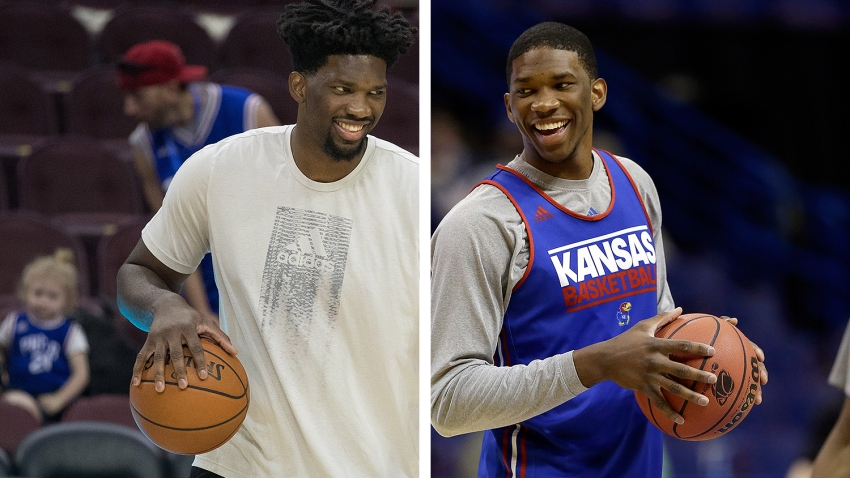 [CSNPhily] Joel Embiid soaks in Kansas return, looks back at path to Sixers