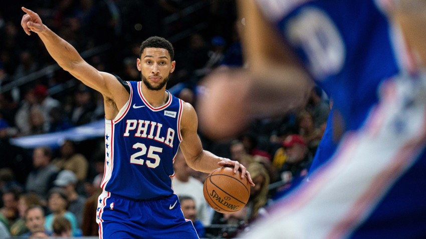 [CSNPhily] Ben Simmons hitting a 3 is nice, but everything else he did in Sixers' win over Knicks even more impressive