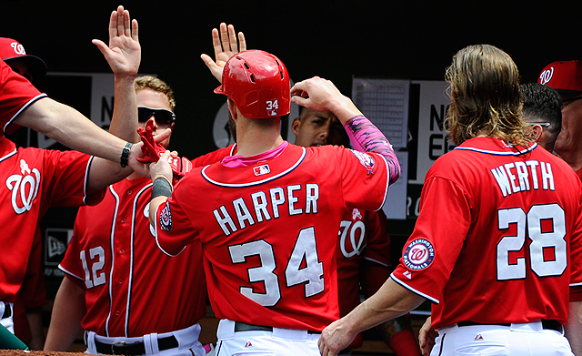 [CSNPhily] Nationals' Bryce Harper leaves game with apparent left knee injury