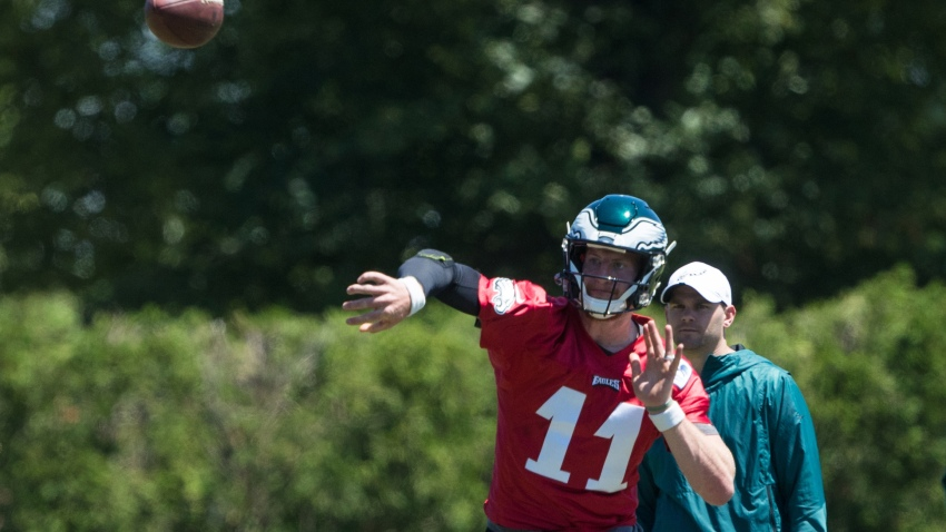 [CSNPhily] 10 observations from Eagles minicamp: Wentz is up-and-down but hits DeSean on a bomb