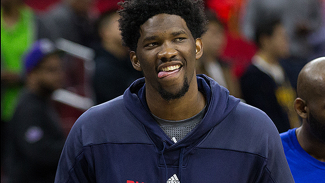 [CSNPhily] Joel Embiid celebrates Sixers lottery win with Shirley Temples