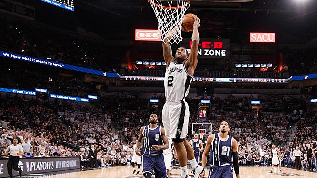 [CSNPhily] NBA Playoffs: Spurs demolish Thunder to take 1-0 series lead