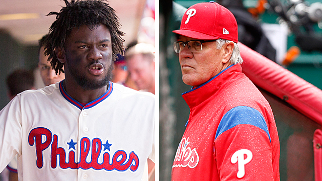 [CSNPhily] Odubel Herrera not in Phillies' lineup for Game 1 after meeting with Pete Mackanin