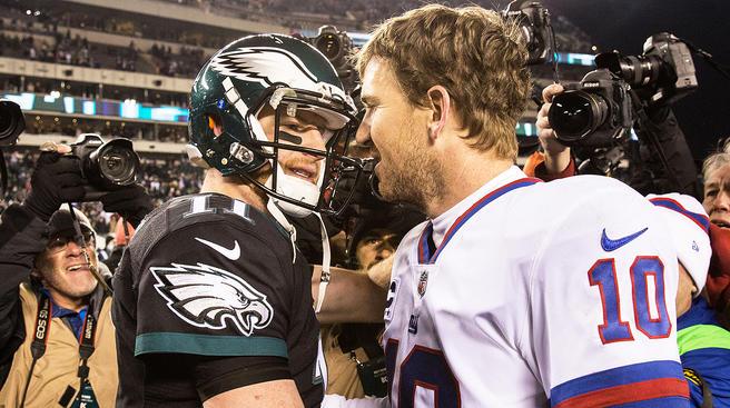 Carson Wentz and Eli Manning