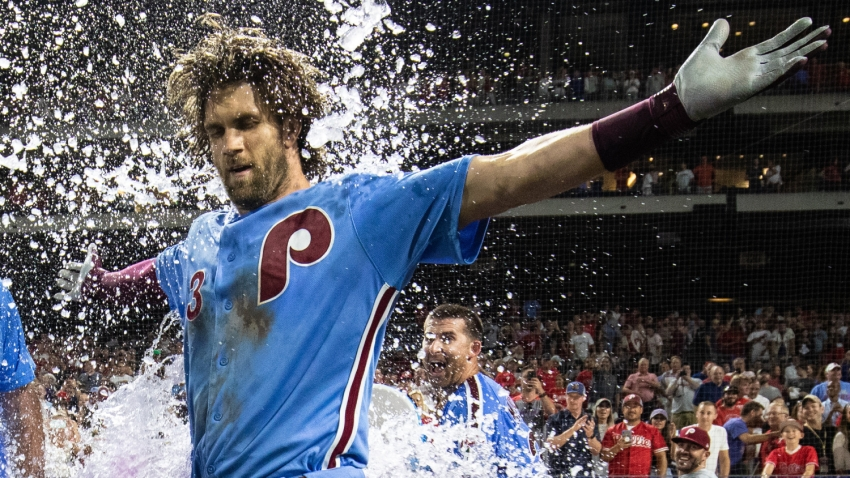 [CSNPhily] Oh, what a night! Bryce Harper's heroics give Phillies their biggest win in years