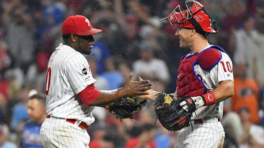 [CSNPhily] Phillies strike out nonstop but J.T. Realmuto picks them up in narrow win
