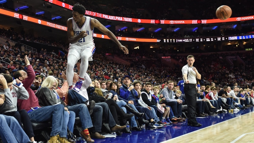 [CSNPhily] You can thank Allen Iverson in part for Joel Embiid diving into the stands