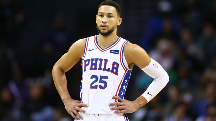 [CSNPhily] Ben Simmons out vs. Nuggets while dealing with shoulder injury
