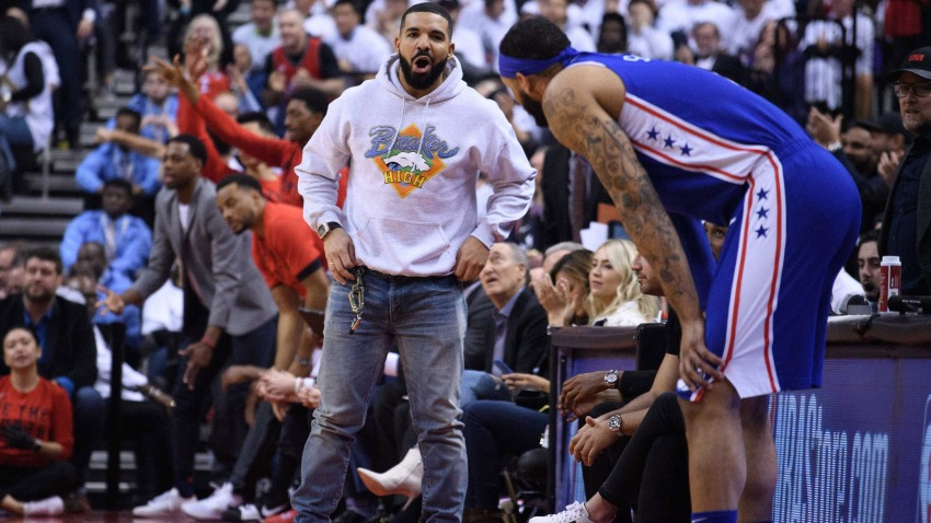 [CSNPhily] Raptors fan Drake found a way to use his own curse on the Sixers