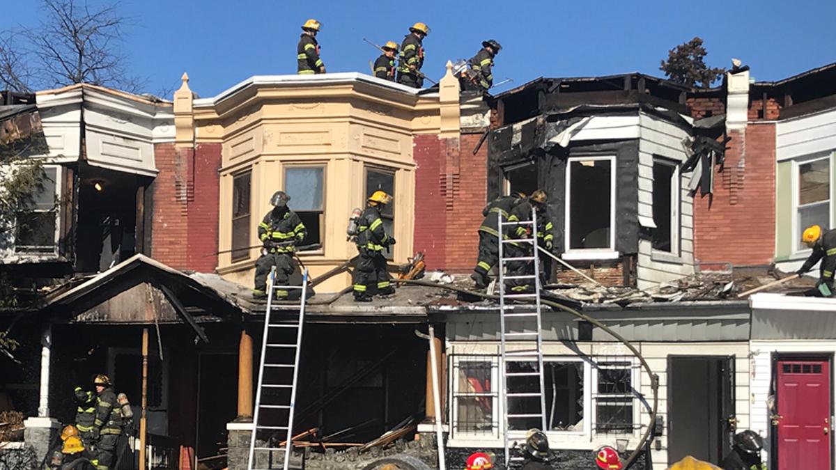 Fire Engulfs Row Homes in West Philadelphia