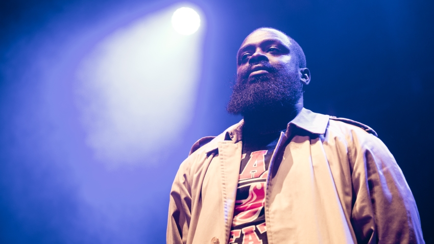 Solo 45 of Boy Better Know performs onstage